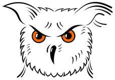 图标猫头鹰向量 免版税图库摄影