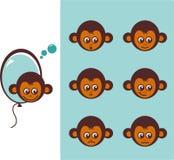 图标猴子 库存照片