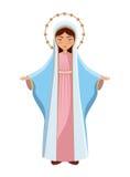 图标玛丽贞女 向量例证