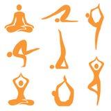 图标瑜伽 免版税库存照片