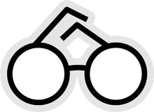 图标眼镜 皇族释放例证