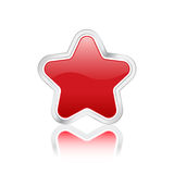 图标红色星形 免版税库存图片