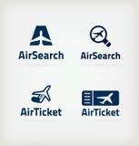 图标航空 免版税图库摄影