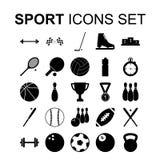 图标被设置的体育运动 也corel凹道例证向量 免版税库存照片