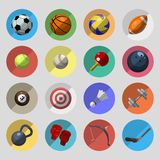 图标被设置的体育运动 免版税图库摄影