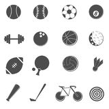 图标被设置的体育运动 免版税库存照片