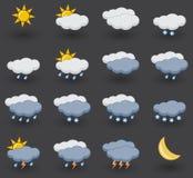 图标被设置的天气 向量例证