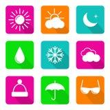 图标被设置的天气 免版税图库摄影