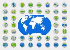 图标被设置的旅行 免版税库存照片