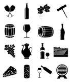 图标被设置的酒 免版税库存图片