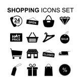 图标被设置的购物 也corel凹道例证向量 免版税库存照片