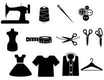 图标裁缝 免版税图库摄影