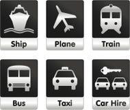 图标设置了旅行 免版税库存图片