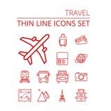 图标设置了旅行 免版税图库摄影