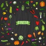 图标设置了蔬菜 免版税图库摄影