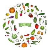 图标设置了蔬菜 库存图片