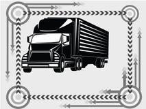 图标运输卡车 库存图片