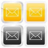 图标邮件正方形 免版税库存照片