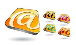 图标邮件透视图集合视图 免版税库存图片
