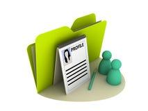 图标配置文件 免版税图库摄影