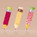 图标铅笔 免版税库存图片