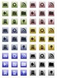 图标集。 网络设计要素 免版税库存图片