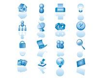 图标集合万维网 图库摄影