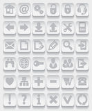 图标集合万维网 免版税图库摄影