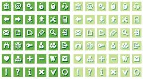 图标集合万维网 免版税库存图片