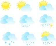 图标集合向量天气 免版税库存图片