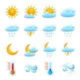 图标集合天气 库存照片