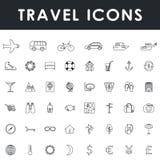 图标集合旅游业旅行 库存图片