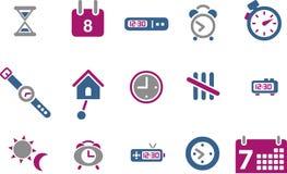 图标集合时间 免版税库存图片