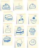 图标集合甜点 免版税库存照片