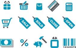 图标集合购物 免版税库存照片