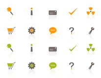 图标集合购物万维网 免版税图库摄影