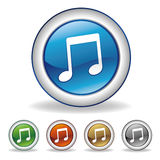 图标音乐向量 免版税库存照片