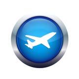 图标飞机 免版税图库摄影