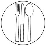 图标餐馆 免版税库存照片