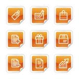图标购物的万维网 免版税库存图片