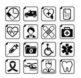 图标医疗集向量 免版税库存照片