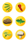 图标素食者 库存图片
