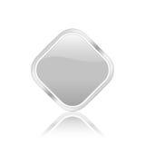 图标rhomb银 库存照片
