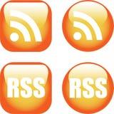 图标rss 向量例证