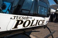 图森警察巡逻直升机 免版税库存照片