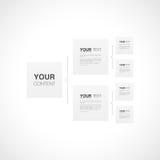 组织系统图模板与您的文本的infographics设计 免版税库存照片