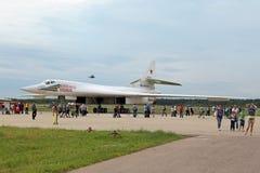 图波列夫图-160白色天鹅 免版税库存图片