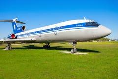 图波列夫图-154航空器 免版税图库摄影