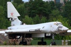 图波列夫站立在Zhukovsky的图-160原型在MAKS-2015 airshow期间 免版税图库摄影