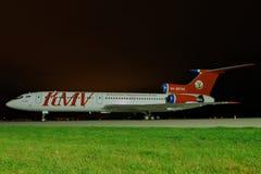 图波列夫TU-154M 免版税库存图片